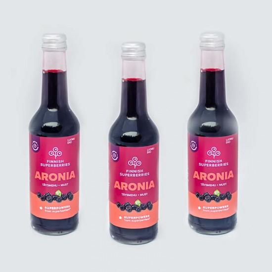 Finnish organic Aronia juice three