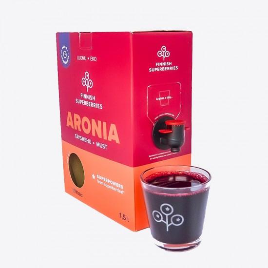 Finnish organic Aronia juice glass