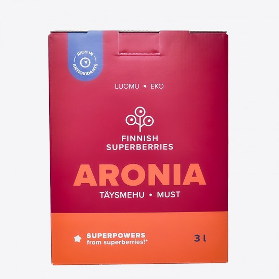 Finnish organic Aronia juice front